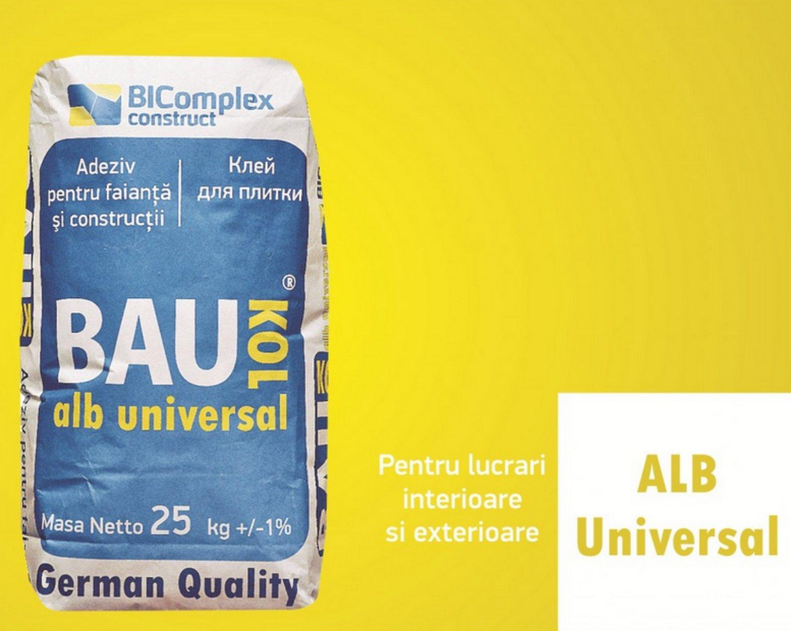 Adeziv BAUKOL Alb Universal